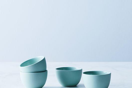 Stackable Matte Ceramic Thimble Cups (Set of 4)
