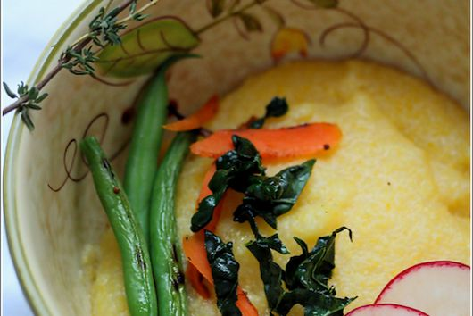 Creamy Polenta Bowl with Pan Roasted Vegetables