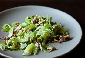 Dinner Tonight: Leek Risotto + Italian Celery Salad