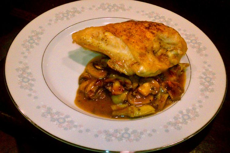 Roast Chicken Breasts With Mushrooms & Artichoke Hearts