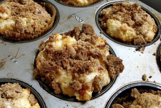 Butternut Squash, Ricotta & Bacon Streusel Topped Muffins