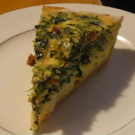 Earthy Herb Spinach and Bacon Frittata