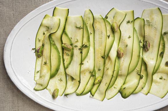 Zucchini carpaccio from Food52