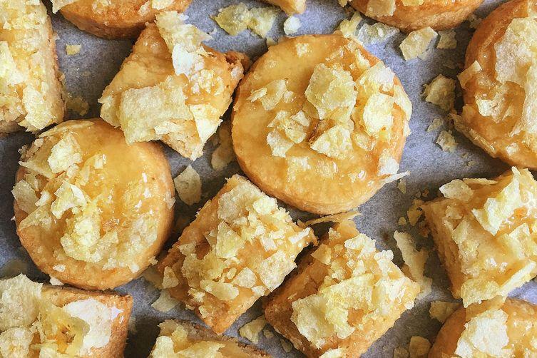 Honey-Butter Chip Shortbread Cookies