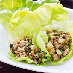 Chicken Lettice Wraps with Jicama