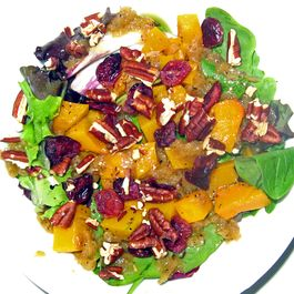 Maple Roasted Butternut Squash Salad with Apple Dressing