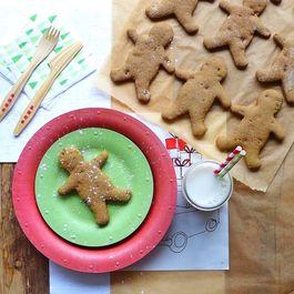 Vegan Maple & Pumpkin Gingerbread Cookies