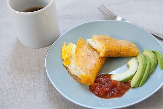 Super Simple Single Serving Breakfast Quesadilla