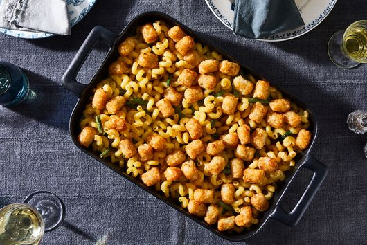 "Hetty McKinnon's Creamy Tahini ""Mac & Cheese"" With Tater Tots"