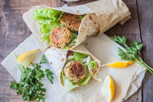 Lemon Tahini Falafel Wrap