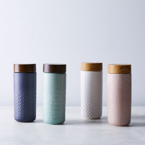 Double-Walled Ceramic To-Go Tumbler