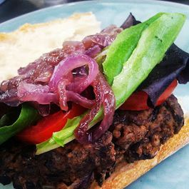Black Bean and Wild Rice Burgers