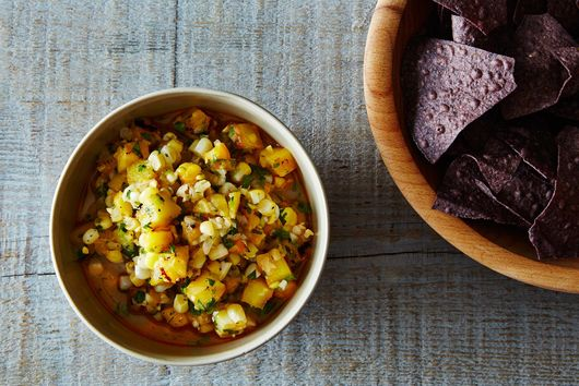 Next Day Grilled Corn, Pineapple & Peach Salsa