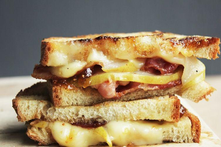 Bacon, Pear, & Brie Panini