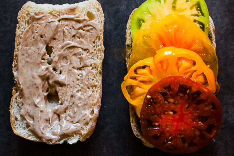 Heirloom Tomato Caprese Sandwich with Balsamic Aioli