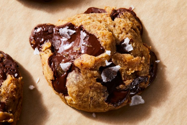 Chocolate Chunk Cookies with Maple & Olive Oil
