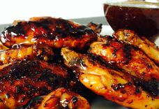 Grilled Apricot, Honey, and Habanero Pepper Chicken Wings