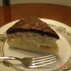 Boston Cream Pie with Kahlua ganache