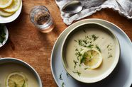 Greek Lemon Soup —Avgolemono