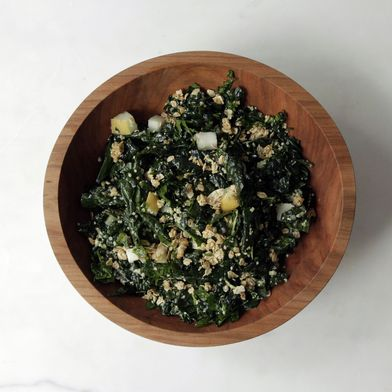 Crunchy Kale and Asian Pear Salad with Granola