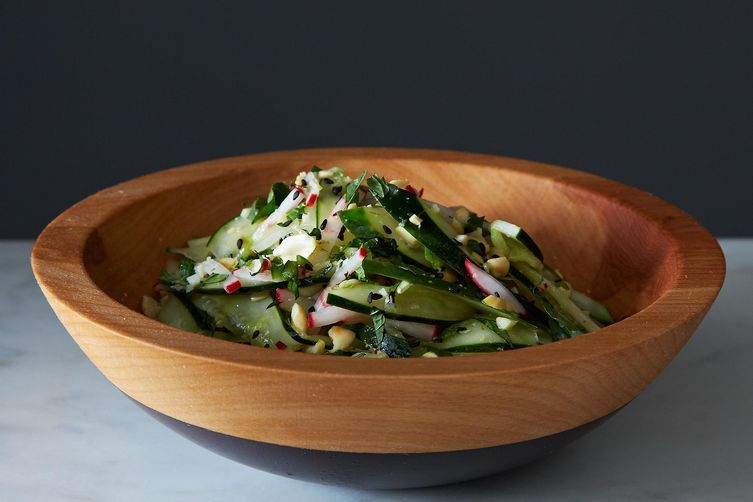 Sesame peanut cucumber salad from Food52