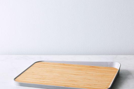 Bamboo Cutting Board with Angled Lip