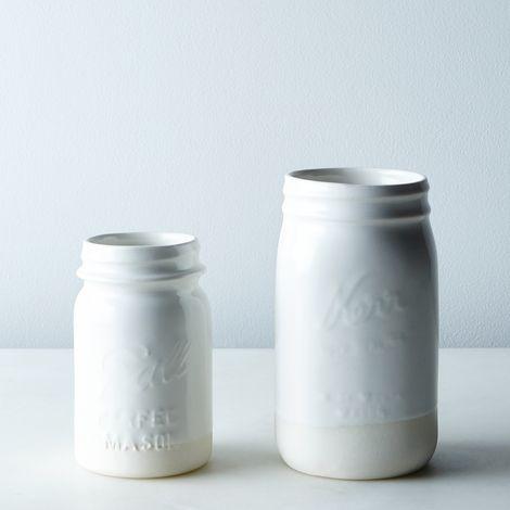 Porcelain Ball Jar Cup