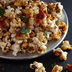 Maple corn with bacon and crispy sage