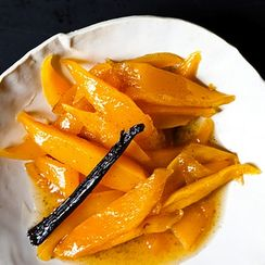 Rum-Spiked Roasted Caramelized Mango