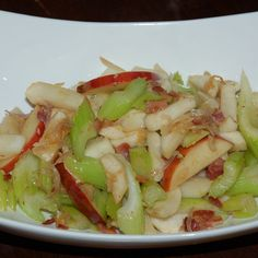Celery, Turnip, Apple Pan Saute, with Bacon and Other Good Stuff