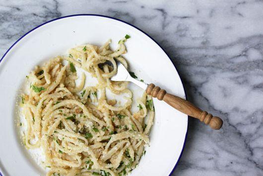 Pici con le Briciole (Pici with Breadcrumbs)