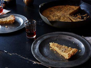 A Genius, Soft-Crisp-Crumbly-Cheesy Skillet Shortbread