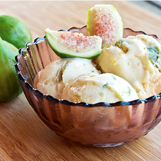 Mascarpone Ice Cream with Caramelized Figs