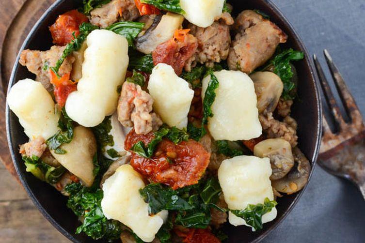 Sausage Kale and Tomato Gnocchi