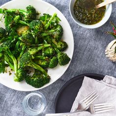 Perfect Steamed Broccoli with Caper-Raisin Vinaigrette
