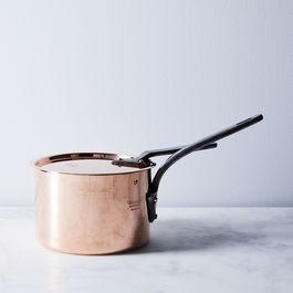 Vintage Copper Lewis & Conger Saucepan, Late 19th Century