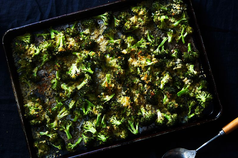 Blissed-Out Crispy Cheesy Broccoli Sheet Pan Gratin