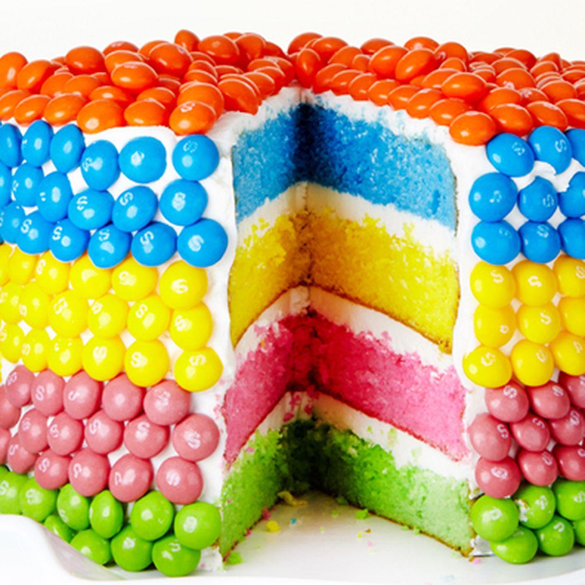 Phenomenal Rainbow Layer Cake Recipe On Food52 Birthday Cards Printable Benkemecafe Filternl