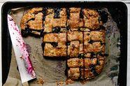 Blueberry and Rye Slab Pie