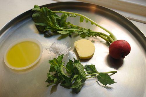 Sauteed Radishes with Mint