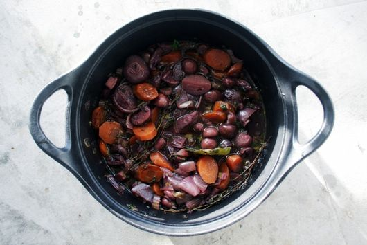 Magical mushroom stew with cream of celeriac