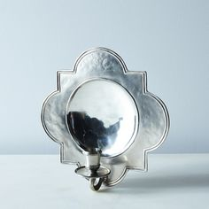 Quatrefoil Pewter Wall Sconce