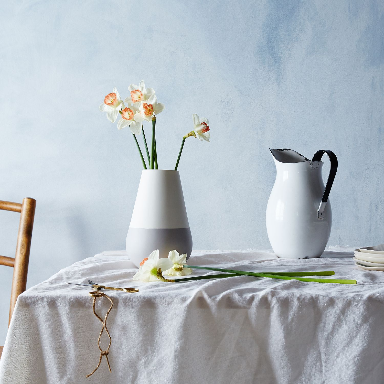 White Amp Gray Ceramic Vase Vase Tabletop Hawkins New