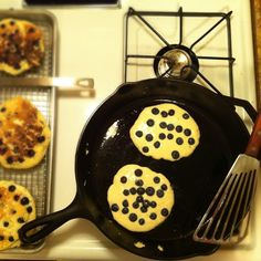 brown butter griddlecakes with wild blueberries