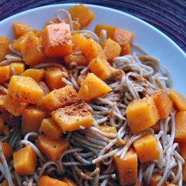 Gingered Butternut Squash Soba Noodles