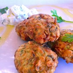 Chickpea & Shrimp fried patties