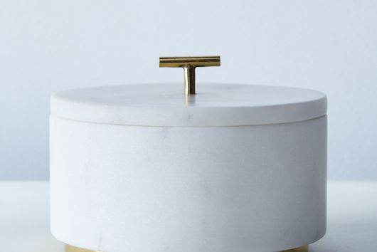 Marble & Metal Lidded Box