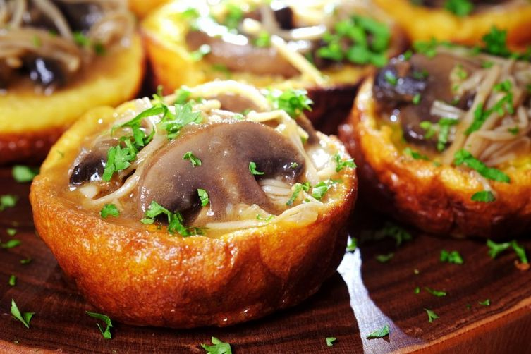 Gluten-Free Yorkshire Pudding with Mixed Mushroom Ragout
