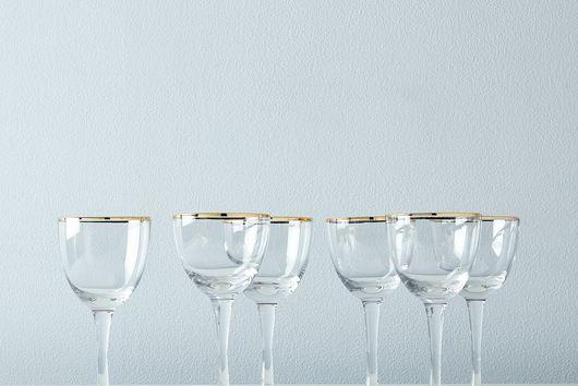 Metallic Rimmed Cocktail Glasses (Set of 6)