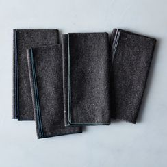 Heathered Charcoal Napkins (Set of 4)